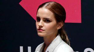 (L'actrice britannique Emma Watson au siège des Nations-Unies à New York © Maxppp)