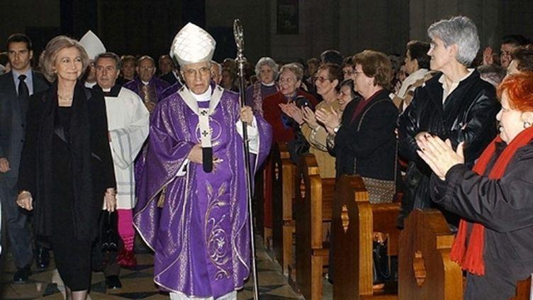 Cérémonie en hommage des victimes des attentats du 11 mars 2004 à la cathédrale Almudena de Madrid (AFP / Alberto Martin)