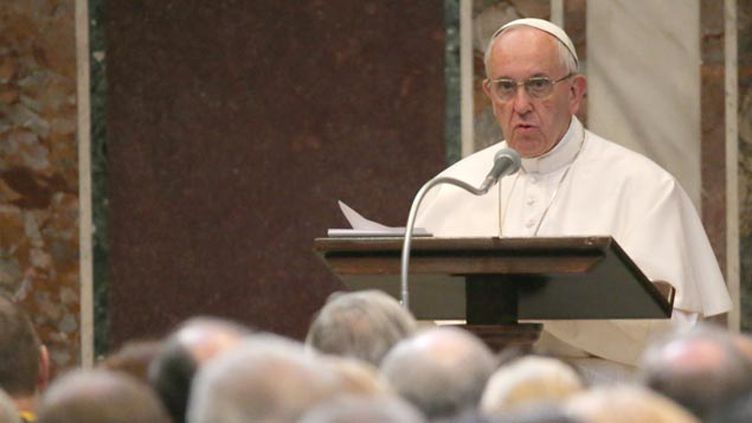 (Le pape François qui a reçu ce vendredi le prix Charlemagne © maxPPP)