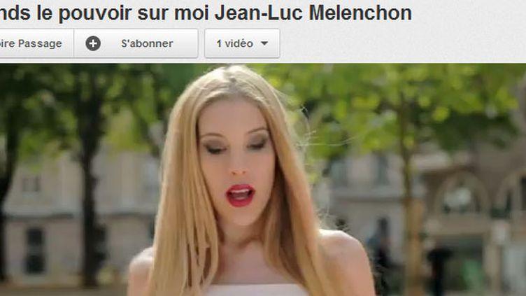 """""""Prends le pouvoir sur moi Jean-Luc Mélenchon""""...Clip signé Victoire P. (You Tube)"""
