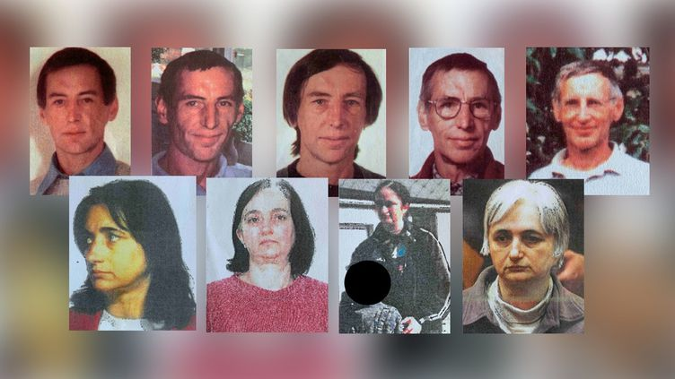 Capture d'écran de la série de photos à différents âges de Michel Fourniret et Monique Olivier publiée dans l'appel à témoin de la gendarmerie nationale, le 12 novembre 2020. (GENDARMERIE NATIONALE)