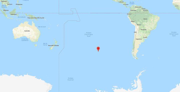 Le pôle d'inaccessibilitése trouve à quelque 3 500 kilomètres à l'est de la Nouvelle-Zélande et à 2 500 kilomètres au nord de l'Antarctique. (GOOGLE MAPS)