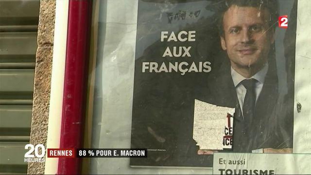 Rennes : 88% de votes pour Emmanuel Macron