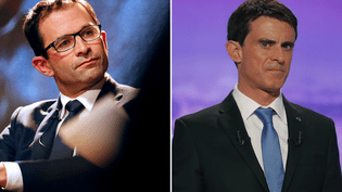 Les deux finalistes de la primaire de la gauche, Benoît Hamon et Manuel Valls. (REUTERS)