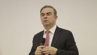L'ancien dirigeant de l'alliance Renault-Nissan, Carlos Ghosn, lors d'une conférence de presse à Beyrouth (Liban), le 8 janvier 2020. (JOSEPH EID / AFP)