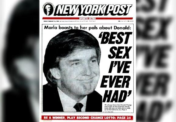 """La une du """"New York Post"""" du 16 février 1990. (NEW YORK POST)"""