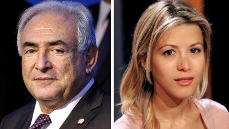 Dominique Strauss-Kahn et son accusatrice, Tristane Banon. (FRED DUFOUR / AFP)