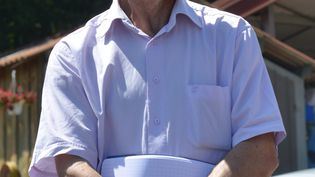 Joël Limouzin, vice-président de la FNSEA, lors d'un déplacement en Haute-Loire en 2015. (REMY PERRIN / MAXPPP)