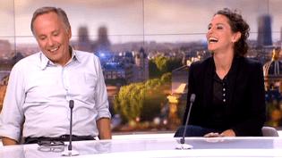Emma et Fabrice Luchini sur le plateau de France 2 le 27 septembre 2015  (Culturebox)