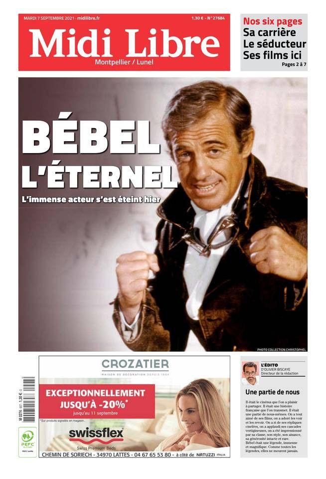 """La une de """"Midi Libre"""", le 7 septembre 2021. (MIDI LIBRE)"""