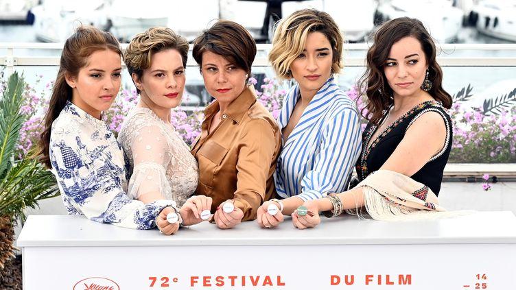 L'équipe du film Papicha lors du festival de Cannes 2019 (© MUSTAFA YALCIN / ANADOLU AGENCY)