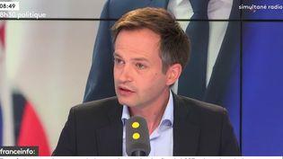 Pierre-Yves Bournazel, député Agir-Les Constructifs de la 18e circonscription de Paris et porte parole d'Agnes Buzyn pour le deuxième tour des municipales 2020. (RADIO FRANCE / FRANCE INFO)