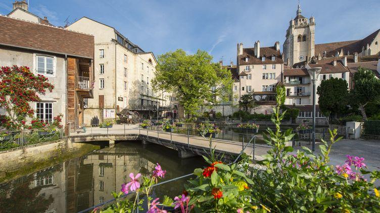 La commune de Dole dans le Jura, le 25 mai 2018. (LANSARD GILLES / HEMIS.FR / AFP)