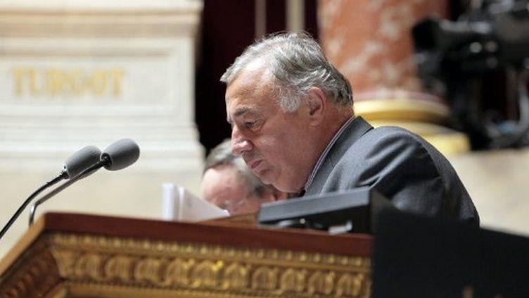 Gérard Larcher tentera de conserver la présidence du Sénat, le 1er octobre 2011. (AFP - Jacques Demarthon)