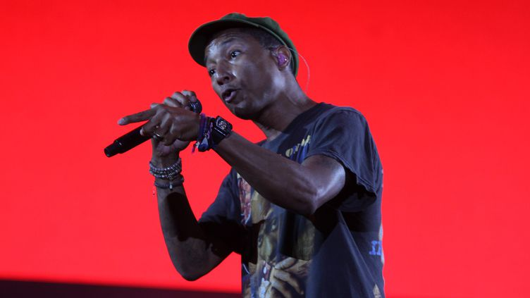Pharrell Williams au festival Lollapalooza au Brésil, le 29 mars 2015  (Amauri Nehn / Brazil Photo Press / AFP)