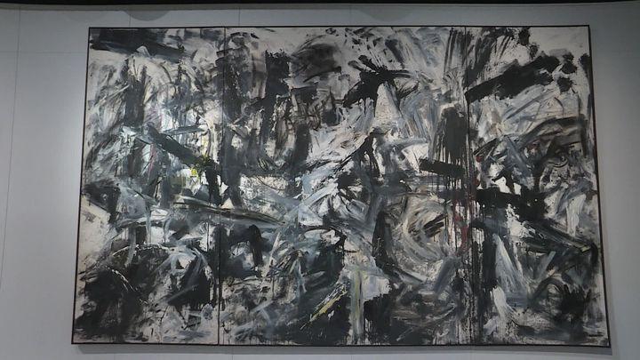 Emilio Vedova, Scontro di Situazioni (Conflit de situations), 1959, détrempe vinylique, huile, sable, charbon et poudre de pigments sur toile 275 x 444 cm (G. Le Gouic / France Télévisions)