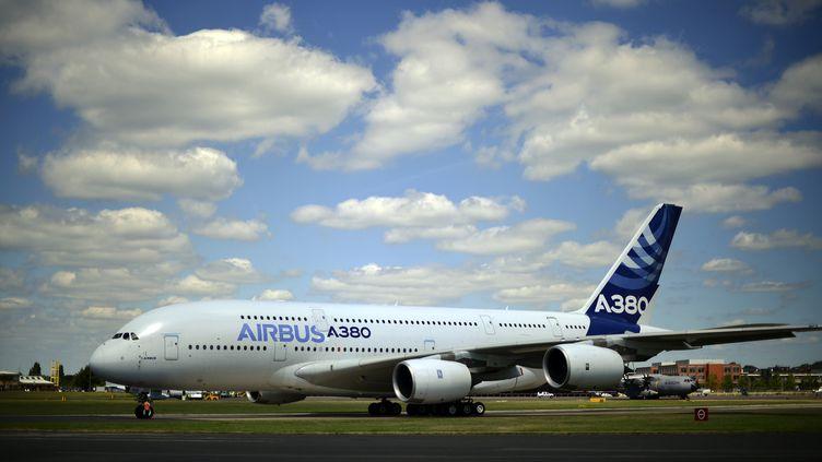 Un airbus A380, le 14 juillet 2014, àFarnborough (Angleterre). (CARL COURT / AFP)