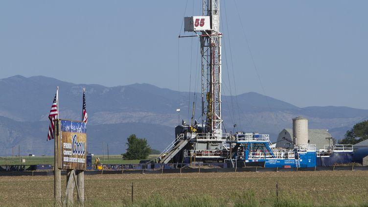 Une installation de fracturation hydraulique dans le Colorado (GARY C. CASKEY / MAXPPP)