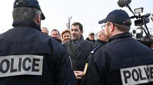 Le ministre de l'Intérieur, Christophe Castaner, en déplacementà Calais (Pas-de-Calais), le 31 janvier 2020. (DENIS CHARLET / AFP)