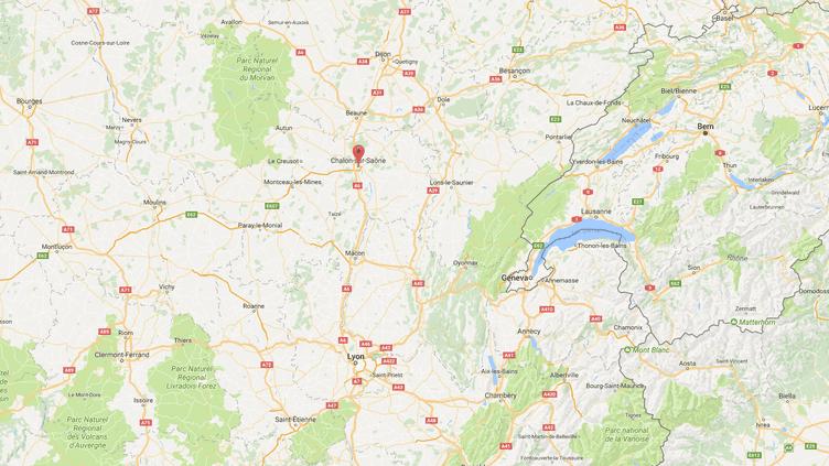 Carte de localisation deChalon-sur-Saône. (GOOGLEMAPS)