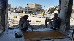 Omar Ouahmane a pris cette photo le 2 avril 2018 à Raqqa. (OMAR OUAHMANE / ENVOYE SPECIAL)