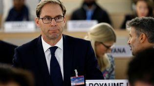 Tobias Ellwood, membre du Parlement britannique, assiste à uneréunion des Nations Unies à Genève (Suisse), le 21 octobre 2016. (DENIS BALIBOUSE / REUTERS)