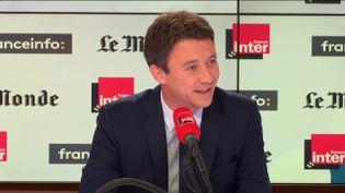 Benjamin Griveaux,invité de Questions politiques France Inter/franceinfole 7 octobre 2018. (FRANCEINFO / RADIOFRANCE)