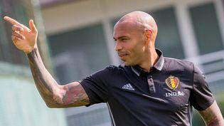 Thierry Henry est le deuxième assistant du sélectionneur belgeRoberto Martinez. (STEPHANIE LECOCQ / EPA)