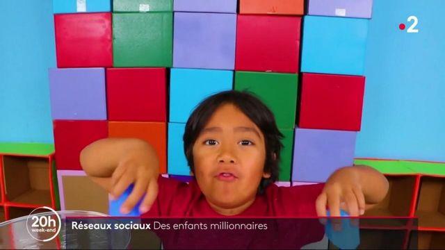 Réseaux sociaux : des enfants youtubeurs millionnaires