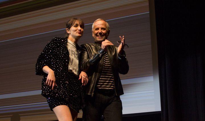 Anaïs Demoustier et Fabrice Luchini sur la scène du théâtre Croisette à Cannes le 18 mai 2019 (Jean-François Lixon)