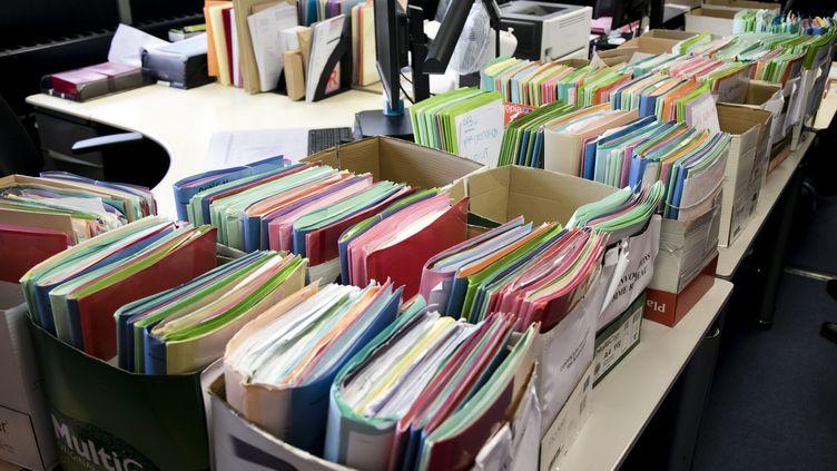 Un bureau d'application des peines surchargé au TGI de Nanterre. (VINCENT ISORE / MAXPPP)