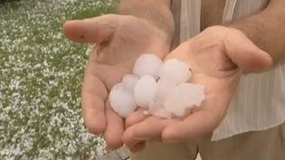 Des grelons gros comme des balles de ping pong se sont abattus à Besançon (Doubs), le 30 juin 2012. (FRANCE3 / FRANCE 2 / FTVI)