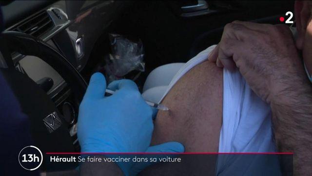 Covid-19 : se faire vacciner dans sa voiture, c'est possible