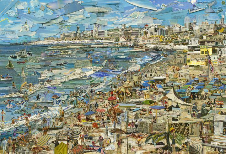 Vik Muniz, Plage, Série Postcards From Nowhere, 2014, avecl'aimable autorisation du Vik Muniz Studio, New York et Rio de Janeiro, et Xippas Galleries.  (Vik Muniz / Rencontres Arles)