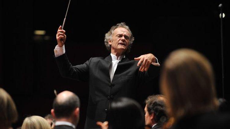 Jean-Claude Casadesus dirigera l'Orchestre National de Lille le 23 juin  (PHOTOPQR/VOIX DU NORD/MAX ROSEREAU)