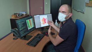 Germain Forestier l'informaticien de Mulhouse qui crée des cartes sur l'évolution du Covid-19 (France 3 Grand Est)