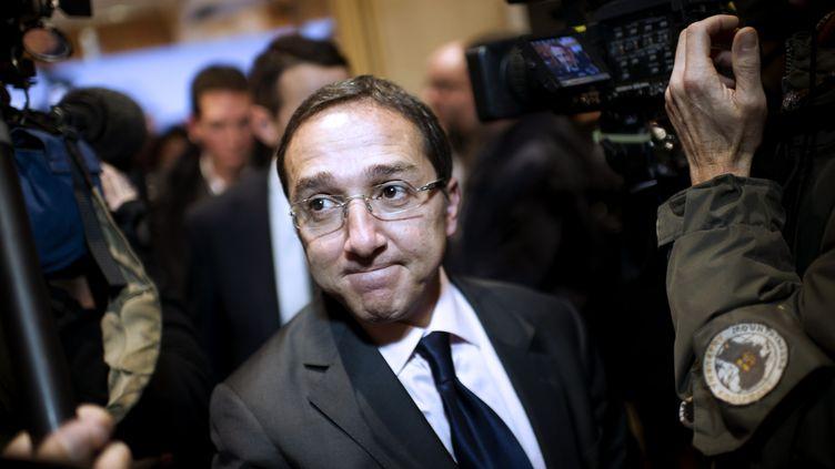 Faouzi Lamdaoui, alors chef de cabinet de la campagne présidentielle de François Hollande, le 16 novembre 2011 à Paris. (FRED DUFOUR / AFP)