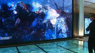 Les écrans géants du Centre John Monash permettent une immersion dans le conflit  (France 3 / Culturebox)