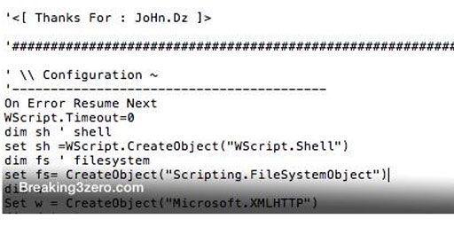 Copie écran du site Breaking3.0 avec le nom du «hacker» (Breaking3.0)
