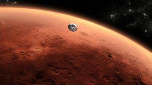 Le robot Curiosity s'est posé avec succès sur la planète Mars, le 6 août 2012. Il va y chercher des traces de vie. (REUTERS)