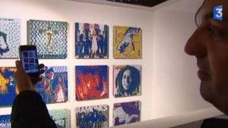 Invader s'expose à Paris, dans la rue et en galeries  (Culturebox)