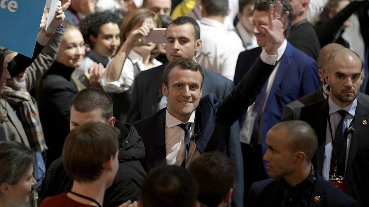 Emmanuel Macron, le 4 février 2017 à Lyon (Rhône). (MAXPPP)