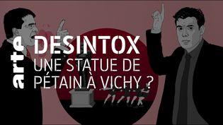 Non, il n'y a pas eu de statue du maréchal Pétain à Vichy (ARTE/2P2L)