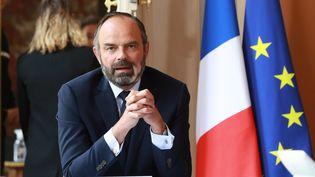 Le Premier ministre Edourd Philippe à Matignon, à Paris, le 30 avril 2020. (LUDOVIC MARIN / AFP)