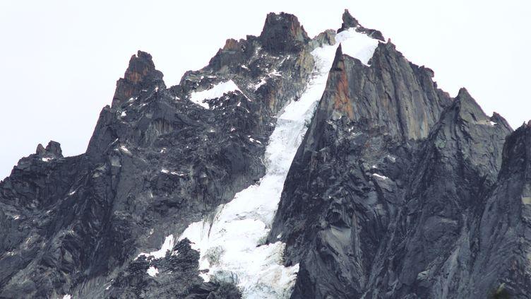 L'Aiguille du Plan dans le massif du Mont-Blanc, le 10 août 2018. (GUILLAUME SOUVANT / AFP)