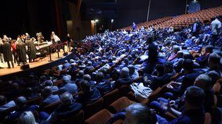 Le conseil des prud'hommes, installé au Parc des exposition, à Amiens, le 4 octobre 2018. (FRANCOIS LO PRESTI / AFP)