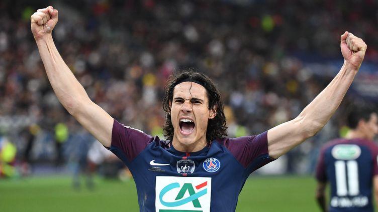 Edinson Cavani a inscrit le but du 2-0 sur pénalty.  (FRANCK FIFE / AFP)