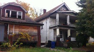 """Des maisons abandonnées de Cleveland, huit ans après la crise des """"subprimes"""". (CELIA QUILLERET / RADIO FRANCE)"""