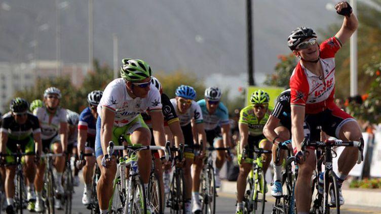 L'Allemand Andre Greipel conserve son maillot de leader.  (MARWAN NAAMANI / AFP)