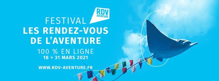 L'affiche des Rendez-vous de l'avanture 2021 (La Fabrique de l'Aventure / Studio Lautrec)
